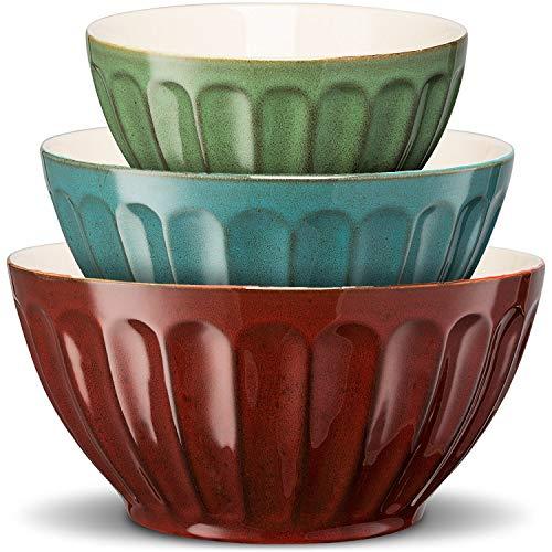 Ceramic Mixing/Serving Bowls set of 3 nesting (small, medium, large)