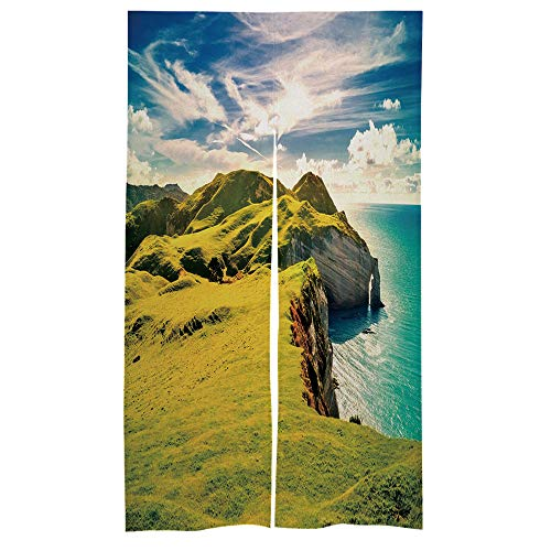 C COABALLA Design Japanese Traditional Doorway Curtain Ireland, Coast Door Curtain for Kitchen Bistro Partition Shading Home Decorative 33.5 x 59 inches No008442