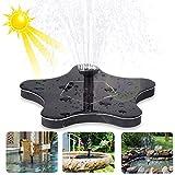 innislink Fuente solar, bomba solar para estanque, exterior, de agua jardín, fuente con 1,4 W monocristalino, decoración peces, baño pájaros, estanque pequeño