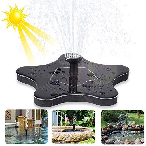 innislink Solar Springbrunnen, Solarbrunnen Solar Teichpumpe Gartenbrunnen für außen Wasserpumpe Garten Fontäne Pumpe mit 1.4W Monokristallin Dekoration für Fisch-Behälter Vogel-Bad Kleiner Teich