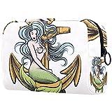 Kit de Maquillaje Neceser Makeup Bolso de Cosméticos Portable Organizador Maletín para Maquillaje Maleta de Makeup Profesional Saling de Sirena 18.5x7.5x13cm