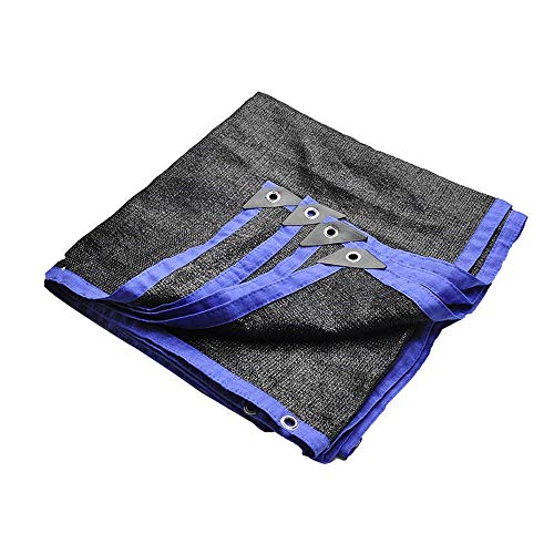 QULONG Black Shade Cloth, Verschlüsseltes 6-Poliges Beschattungsnetz, 80% Beschattungsrate Für Balkon-Gartenhaus 3x5m-Isolationsnetz, 6-Polig,3X5M(9.84X16.4ft)