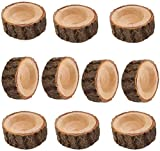 Yikko Tea Light Candle Holders, Wooden Candleholder Set for Wedding Centerpieces for Table, Halloween |Christmas Party |Valentine's Day |Home Decoration - 10pcs (2.16Wx0.98H)