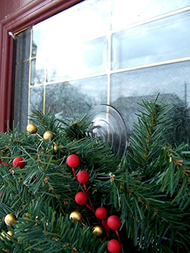 Holiday Joy - 2 Wreath Holders - World's Strongest All Purpose Giant Suction Cups - Perfect Wreath Hangers - Made in USA