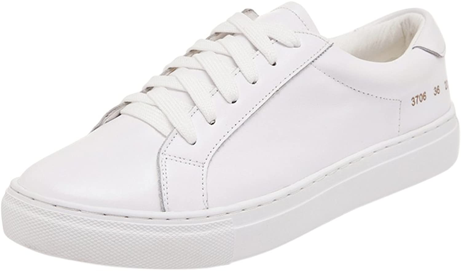 Tortor 1bacha Unisex Teenager Adult Leather Simple Fashion White Sneaker