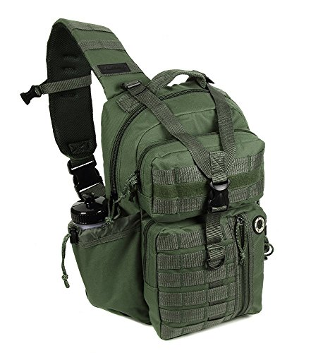 Nexpak Tactical Messenger Sling Bag Outdoor Camping Hiking Travel Backpack TL318-ODGN OD Green