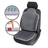 Walser Autositzauflage Aero-Spacer, atmungsaktiver Sitzschoner, universelle Schutzunterlage mit Polsterung, komfortable Sitzauflage anthrazit 13993