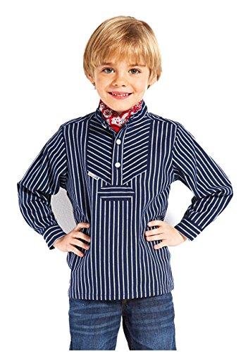 modAS original Kinder Fischerhemd, Größe:110, Farbe:breiter Streifen