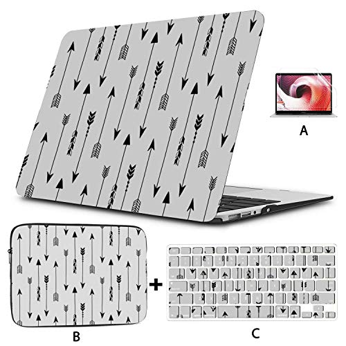 Macbook Covers Colorful Geometric Arrow Design Computer Cover Hard Shell Mac Air 11'/13' Pro 13'/15'/16' With Notebook Sleeve Bag For Macbook 2008-2020 Version
