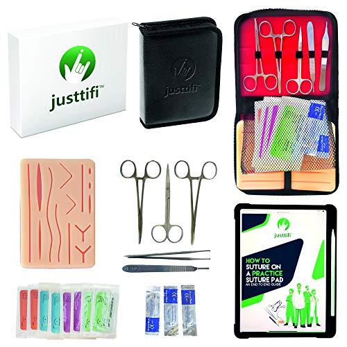 Justtifi Suture Practice Kit Medical - Premium Suture Kit Practice Medical Student Reusable Suture...