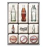 Nostalgic-Art Magnet-Set, Coca- Cola - Bottle Timeline