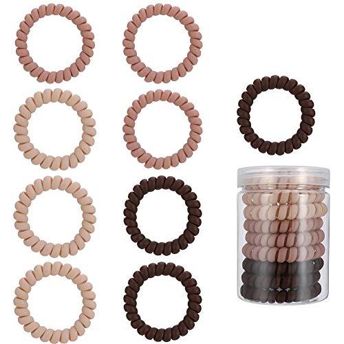 Yumi V 9 Stück Spiral-Haargummis Spirale Haargummis Spiralkabel Telefonschnur keine Falten Haargummis Twist Haargummis Haarbänder Haargummis Haargummis Pferdeschwanz Halter geeignet für alle Haartypen