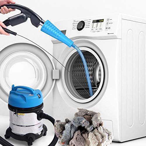 Dryer Vent Cleaner Kit Dryer Vent Vacuum Attachment Lint Remover Power Washer and Dryer Vent Vacuum Hose(Blue)