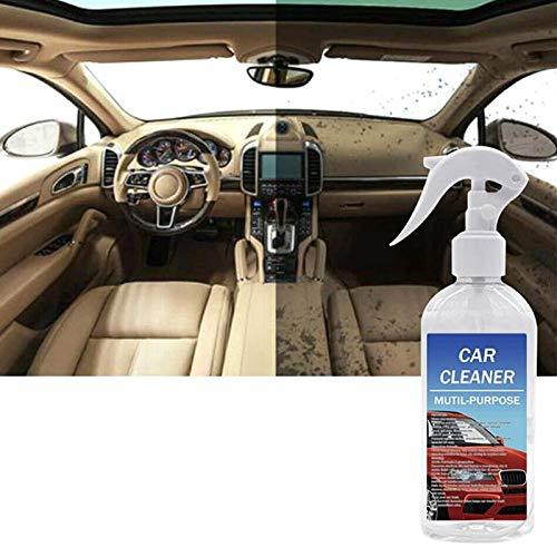Limpiador de Burbujas Todo en 1 para automóvil, Limpiador de Interior de automóvil, Espuma en Aerosol, lo Mejor para tapicería de alfombras de Cuero y Cuero para automóviles (100ML)