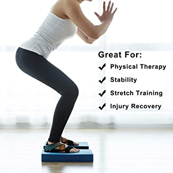 Balance Pad, Balancing Foam Pad, Large 2 in 1 Yoga Foam Cushion Exercise Mat, Knee Pad for Fitness and Stability, Str...