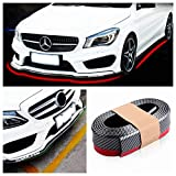 HERBEN Bumper Protector, Front Bumper Lip, Front Lip & Side Skirt Protector, Front Lip Spoiler for Cars Trucks SUV - to Protect Cars from Collision (2.5m, Carbon Fiber Black)