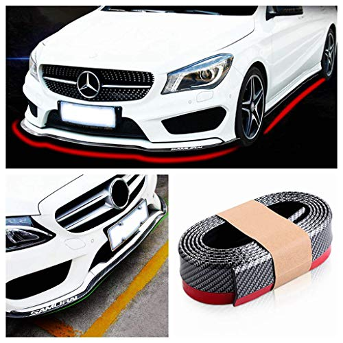 KINJOHI Car Styling Door Sill Protector Carbon Fiber Moulding Strip Trim Front Bumper Car Kick Plates