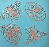 Silk Screen Cindi's Bees Polymer Clay Stencil