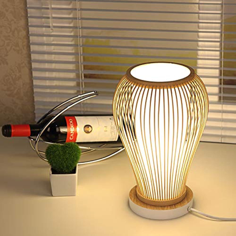 JINSH Home Kreative Tischleuchte Schlafzimmer Nachttischlampe warme Garten Lampe einfache Persönlichkeit Hotel Tischlampe Bambus Tischlampe B07JMW7X5Q       Hohe Qualität