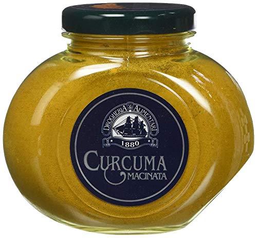 Curcuma in Polvere - 105 g - Spezia Pregiata Sapore Muschiato - Conosciuto come Zafferano delle Indie - Per Pollo, Gamberi, Zuppe, Patate o Torte Salate