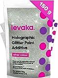 Levaka Glitter per Pittura da 150 Grammi – Additivo Brillantini Decorazioni Glitter Olografico –...
