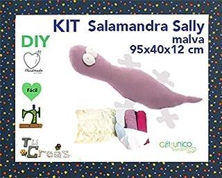 Kits de costura. Cojín Salamandra morada. Gift-Unico