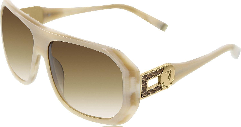 Trussardi Women's 12820BE59 14 Brown Square Sunglasses