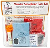 Monster Saxophone Care and Cleaning Kit | Swabs, Cork Grease, and More! Everything You Need to Take Care of and Clean Your Saxophone!