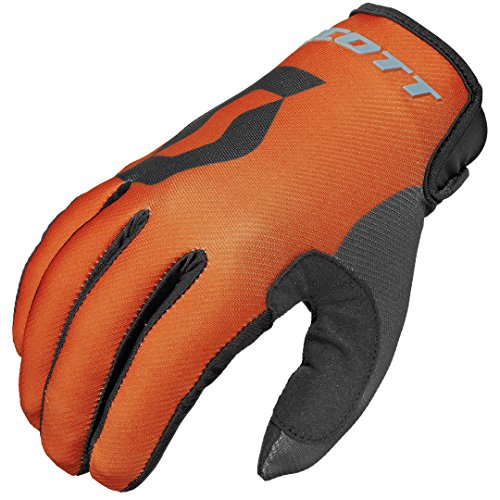 Scott 350 Track MX Motocross/DH Fahrrad Handschuhe orange/schwarz 2016: Größe: L (10)