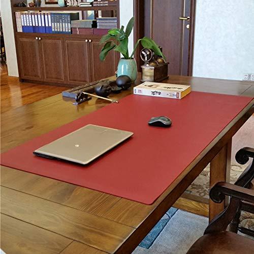 JYAcloth Schreiben Schreibtischunterlage Beschützer,Anti Rutsch Pu Leder Mauspad Große Schreibtisch Blotter,wasserdichter Büro Tischunterlage Mit Komfortabler Schreibfläche Rotwein 80x30cm/31x12inch