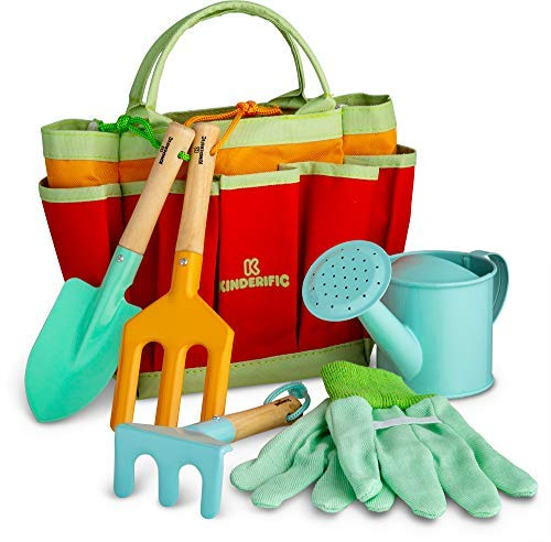 Kinderific Gardening Set, Tool Kit, for Toddlers and Kids 2 Years...