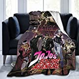 JoJo's Bizarre Adventure Throw Blanket Ultra-Soft Cozy Flannel Plush Blanket Warm Cozy Lightweight Fuzzy Blanket Fit Bed Couch Sofa 50'x40'