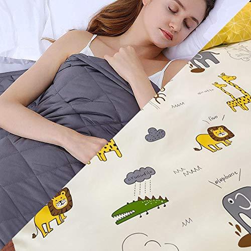 Gravity Blankets con Funda,4.5kg Manta Peso Ansiedad para Peso Corporal 49-63kg para El Sueño y El Alivio del Estrés Natural,152x203cm,Blanco
