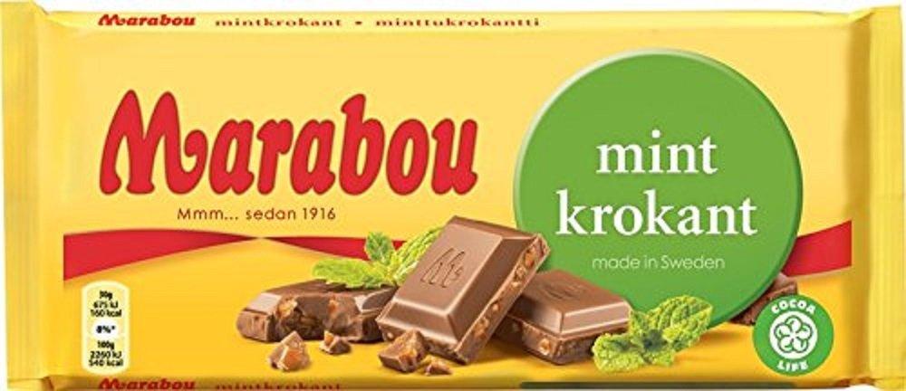 Marabou Mint Krokant Milk Max 74% OFF 200g Bar Tucson Mall Chocolate Sweden