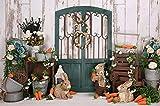 Fondo de fotografía de Pascua Primer Pastel de Ducha de bebé Fondo de Foto de cumpleaños niños recién Nacidos Accesorios de Estudio de Pascua A6 9x6ft / 2.7x1.8m