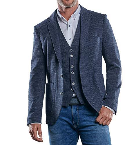 engbers Herren Freizeit-Sakko Slim fit, 30241, Blau in Größe 60