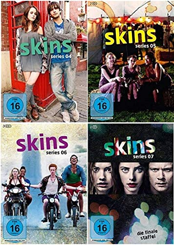 Skins - Hautnah Staffel 4-7 (4+5+6+7, 4 bis 7) [DVD Set]