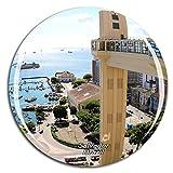 Weekino Brasil Salvador Bahia Imán de Nevera 3D de Cristal de la Ciudad de Viaje Recuerdo Colección de Regalo Fuerte Etiqueta Engomada refrigerador