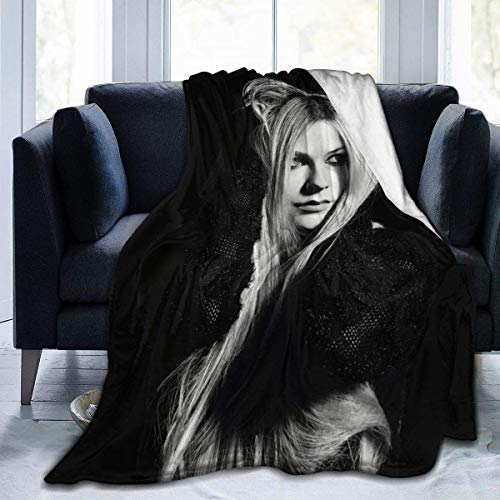 Avril Lavigne Winter Ul-tra Soft Micro Fleece Blanket Fashion Lightweight Blanket for Sofa and Bed