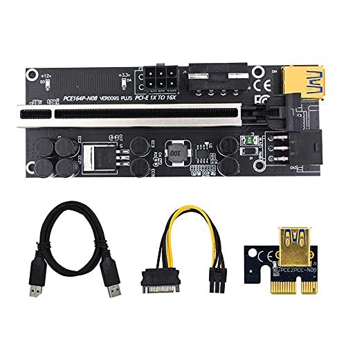PCI-e Tarjeta de Elevador 1x a 16x GPU Riser Express Kits USB...
