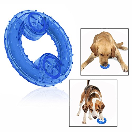 Cisixin Hunde Kauspielzeug,Kühlender Kauknochen für Linderung beim Zahnen(Blau)