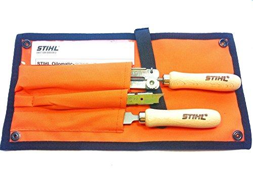 Stihl 5605 007 1029 Schärfset Feilen-Set für 9,5-mm-Sägekette (3/8 Zoll), 1 V, mehrfarbig