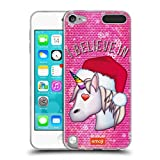 Official emoji Unicorn Christmas Soft Gel Case Compatible for Apple iPod Touch 5G 5th Gen