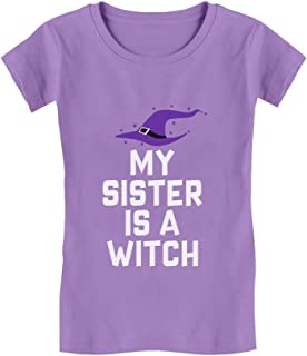 My Sister is a Witch Funny Siblings Halloween Infant Girls' Fitted T-Shirt