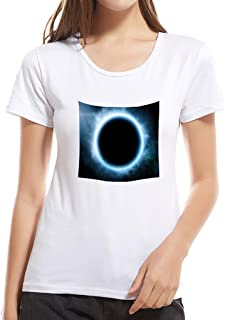 Summerout Womens T Shirts Summer Sunny Girls Childs Sport Short Sleeve Solid Ultra Dry Tee Shirt, White