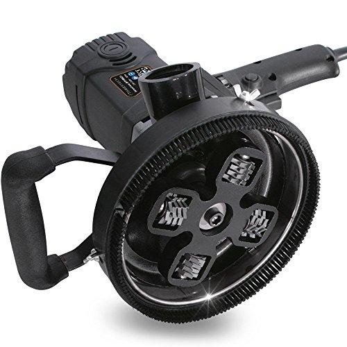 Lijadora de Hormigón - 1500 W, Pulido Ø140 mm, 1.000-2.000 rpm, Cabezal Ø210 mm - Amoladora, Pulidora de Saneamiento, Fresadora de Hormigón, Lijadora de Renovación