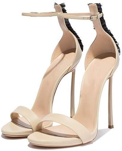 JRSHODA Femmes Ouvert Toe Talons Sandales Plus La La Taille 33 43 Chaussures De Mariée De Mode De Mode Talon Sandales De Mariage  jusqu'à 65% de réduction