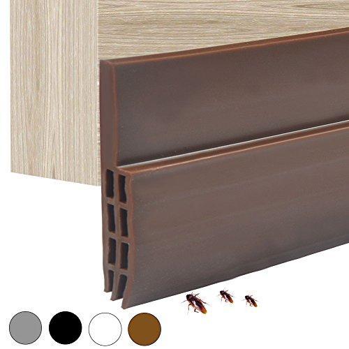 Siliconen deurafdichting, zelfklevend, weerbestendig, stickers voor openingen in deuren en ramen, onderkant, 100 cm bruin