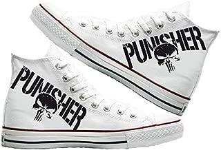 Art T-Shirt -Punisher Baskılı Unisex Canvas Ayakkabı