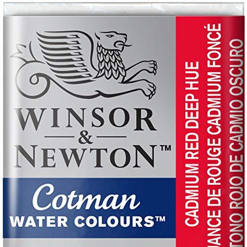 Winsor & Newton 301696 Cotman Colori Acquerello, Viridian, Rosso (Cadmium Rosso), 1.9x1.6x1.1 cm